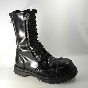 Demonia Sz 5 Black Combat Boots Shoes For Women